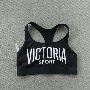 Victoria Sport Victorias Secret black sports bra L